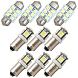 100系 ハイエース スーパーカスタムLTD 純正電球交換型 極LEDルームランプ 10点