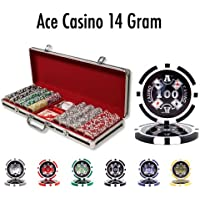 Brybelly Holdings pcs-0103b 500 ct – pre-packaged – Ace Casino 14 Gram – ブラックアルミニウム