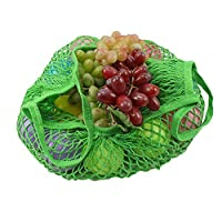 エコバッグ・買い物バッグ Ggorw 新 織り しいストロベリーレディースファッション収納ハンドバッグ折りたたみ式ショッピングトートバッグ 再利用可能バッグ (緑)