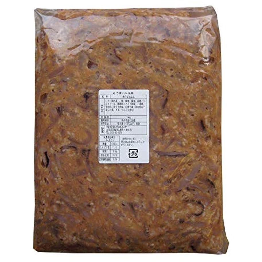 画家障害者融合みそ味いか塩辛 1kg袋入 国産するめ 味噌の効果で 生臭みの無い逸品