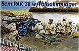 ドラゴン 1/35 第二次世界大戦 ドイツ軍 5cm対戦車砲 Pak38 with 降下猟兵 プラモデル DR6118