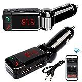 汎用 車載用FMトランスミッター ラジオ カーキット USB2ポート ワイヤレス式 Smartphoneカーチャージャー Bluetooth Car MP3 Player MP3 WMA音楽対応/ハンズフリー通話対応/シガーソケット対応