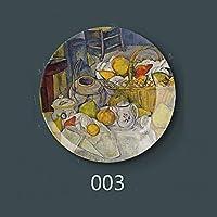 "WOAIPG 磁器 8""インチ20.5センチ直径絵画磁器装飾ホームホール壁掛けプレートクリエイティブアートディスク3"