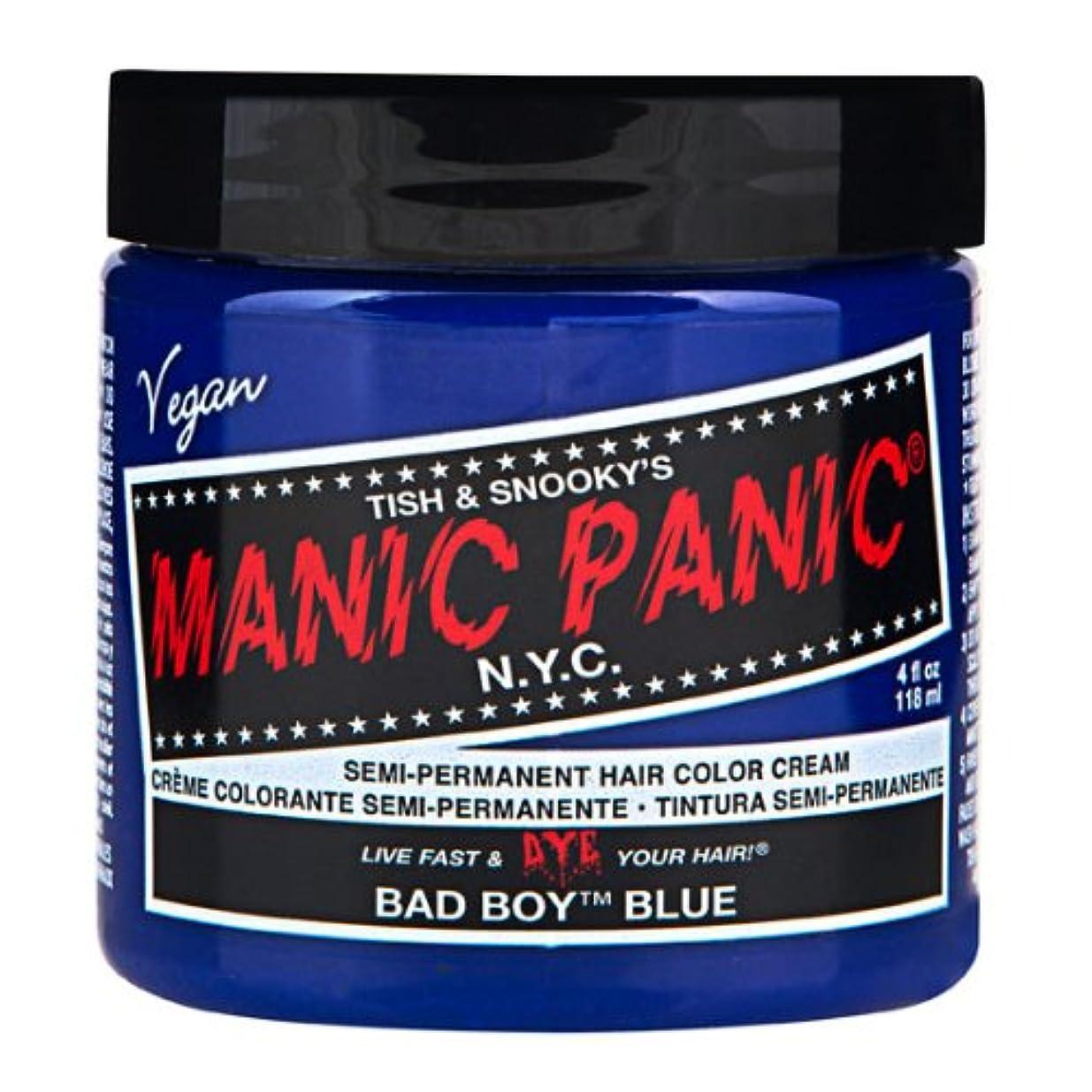 窒息させる柔らかさ腐敗マニックパニック MANIC PANIC ヘアカラー 118mlバッドボーイブルー ヘアーカラー
