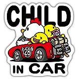CHILD IN CAR チャイルドインカー 反射マグネットシート 赤 135mm×142mm 防水加工 日本製