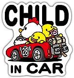 小松プロセス CHILD IN CAR チャイルドインカー 反射マグネットシート 赤 135mm×142mm 防水加工