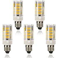 E11口金 LED電球 セラミック LEDランプ SMD2835 50PCS ハロゲン電球 30W形相当 4W 350lm 電球色 3500K 120V 非調光 5個入り