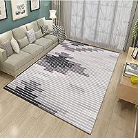 カーペットのコーヒーテーブルのソファ長方形のカーペットカーペットの廊下カーペットの入り口ベッドルーム洗濯可能なソフトタッチ不織布の滑り止め、厚さ6ミリメートル6単色 (色 : D, サイズ さいず : 120 * 200CM)