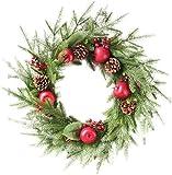 クリスマスツリー ホテルレストランクリスマスツリーラタンアレンジメントハンギングクリスマスリース飾り60センチメートルラタンドア クリスマスツリースカート christmas tree HUXIUPING
