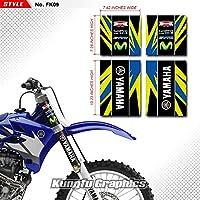 KUNGFU GRAPHICS(カンフー グラフィックス) Yamaha ヤマハ フロントサスペンション フォーク チューブ ステッカー(ブラック)