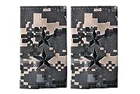 15 米陸軍 肩章 エポーレット 2枚入 階級章 少将 ワッペン レプリカ ピクセルグレー迷彩
