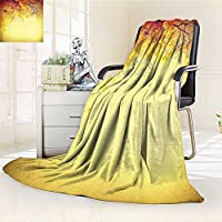 """Throw Blanket LeavesグラデーションLeaves ing in the Wind C FormationのSeasonsアートの暖かいマイクロファイバーすべてシーズン毛布ベッドやソファ 35.4""""x59"""""""