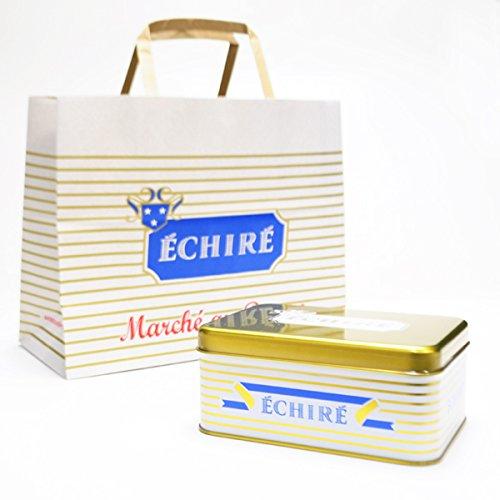ECHIRE エシレ 「エシレ・マルシェ オ ブール」 ガレット・エシレ & サブレ・ヴァニーユ ゴールド缶 ショップバッグ付き