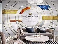 Weaeo 写真カスタム壁紙壁画現代の救済壁画の壁紙3Dシルク防水のバスルームキッチンの壁紙大理石パターン-120X100Cm