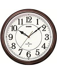 カシオ 夜見えライト付き 電波アナログ壁掛け時計 濃茶 IQ-1051NJ-5JF