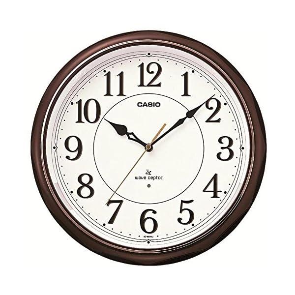 カシオ 夜見えライト付き 電波アナログ壁掛け時計の商品画像