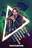 """Notebook: John Wick Renegade , Journal for Writing, College Ruled Size 6"""" x 9"""", 110 Pages"""