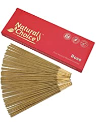 Natural Choice Incense Rose Incense Sticks 100 gm – Made from Scratch – No Dipping