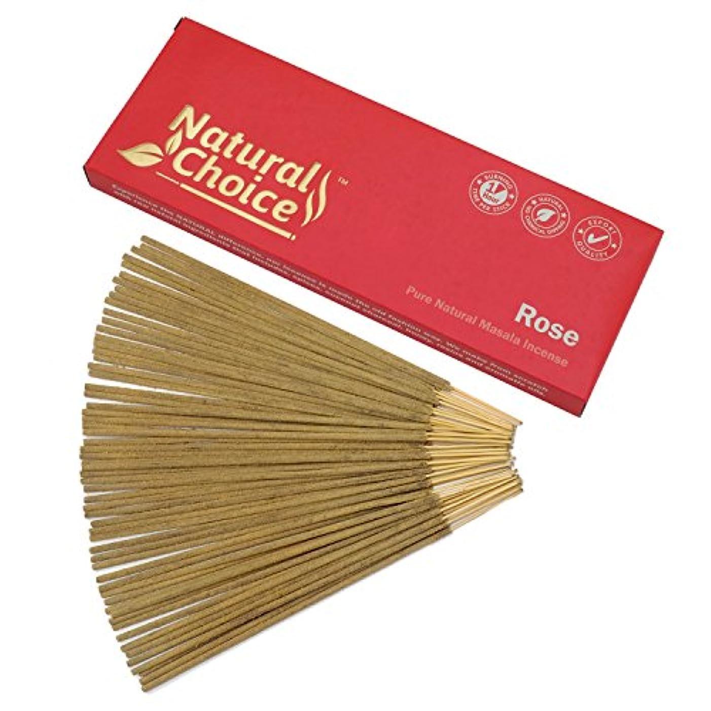 制約宝石矢じりNatural Choice Incense Rose Incense Sticks 100 gm – Made from Scratch – No Dipping