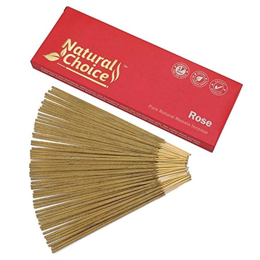 延ばす海港和らげるNatural Choice Incense Rose Incense Sticks 100 gm – Made from Scratch – No Dipping