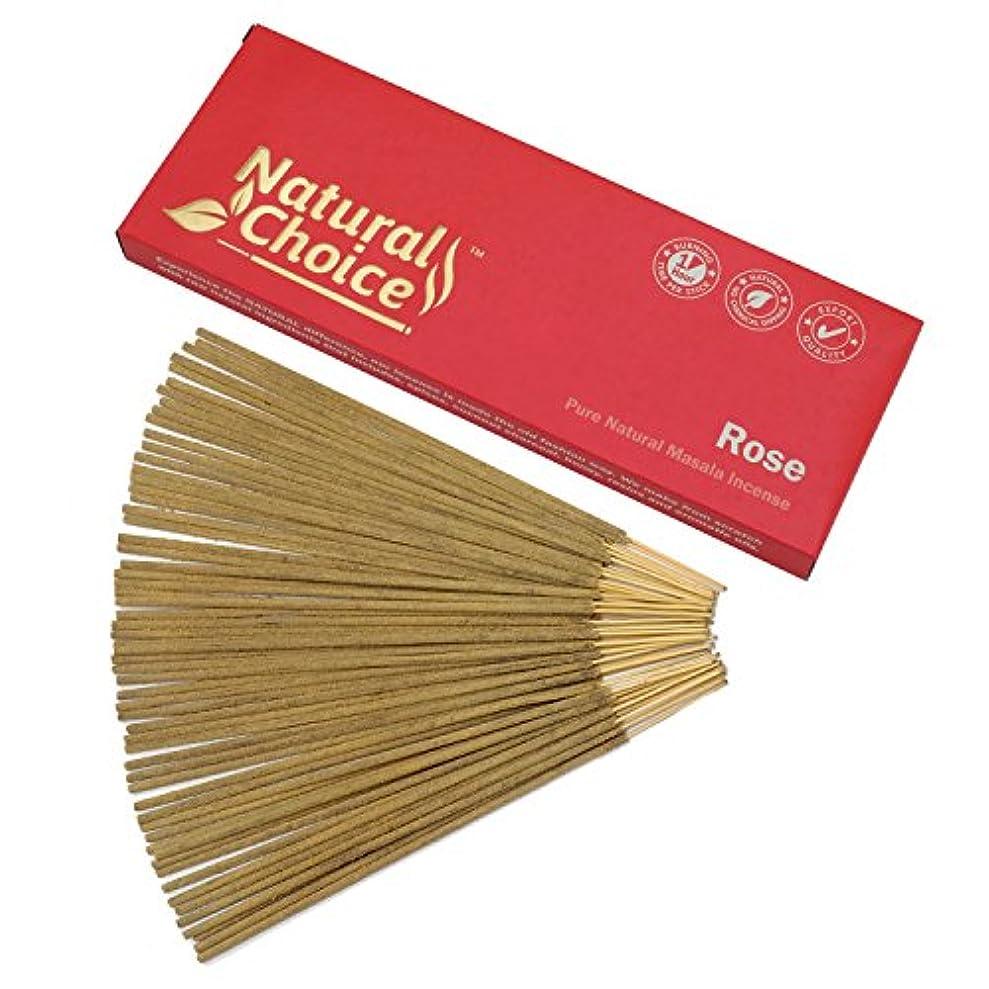 滞在謙虚な偽物Natural Choice Incense Rose Incense Sticks 100 gm – Made from Scratch – No Dipping