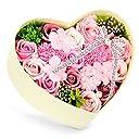 バラ型ソープフラワー 枯れない花 石鹸花束 創意ハードフラワー形状 ギフトボックス 母の日 バレンタインデー 誕生日 転居など最適としてのプレゼント メッセージカード付き