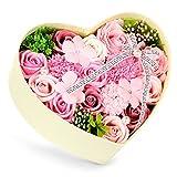 バラ型ソープフラワー 枯れない花 石鹸花束 創意ハードフラワー形状 ギフトボックス 母の日 バレンタインデー 誕生日 転居など最適としてのプレゼント メッセージカード ROYI