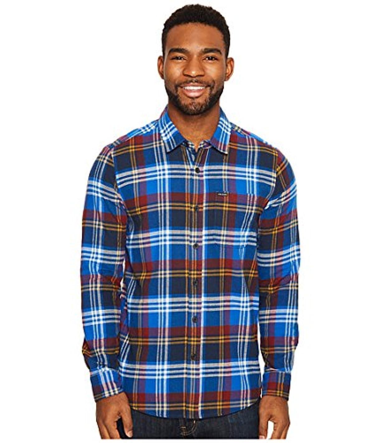 精算抵抗新鮮な(ボルコム) VOLCOM メンズシャツ?アウター Caden Long Sleeve Woven True Blue 2XL 2XL [並行輸入品]