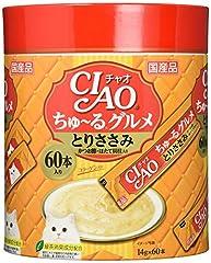 チャオ (CIAO) 猫用おやつ ちゅ~る グルメ とりささみ かつお節 ほたて貝柱入り 14g×60本入