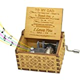 You are My Sunshine Daughter Music Box, Mechanism Antique Carved Music Box You are My Sunshine Hand Crank Music Box for Daugh