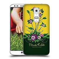 Official Frida Kahlo シュラッブ パープル・フローラル ソフトジェルケース LG G2 / D800 / D802 / D801