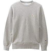 [チャンピオン] トレーナー 長袖 裏起毛 定番 クルーネックスウェットシャツ ワンポイントロゴ刺繍 C3-Q006 メ…