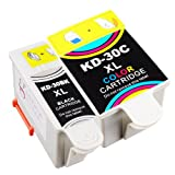 Sophia Global Compatible Ink Cartridge Replacement for Kodak 30XL (1 Black, 1 Color)