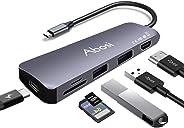 【Amazon.co.jp 限定】アボシ USB C ハブ 6in1 Type C ハブ 4K HDMI出力 ハイスピード USB3.0ポート SD/Micro SDカードリーダー PD給電 変換アダプター