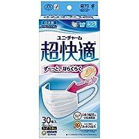 【まとめ買い】(日本製 PM2.5対応)超快適マスク プリ-ツタイプ ふつう 30枚入(unicharm)×6個