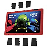 DiMeCard micro8 microSD メモリーカードホルダー―ANDROID LIGHT CYCLE エディション レッド(クレジットカード・サイズの超薄型ホルダー、記入可能なラベル)