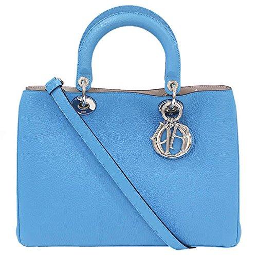 (ディオール)Dior ディオリッシモ トリヨンレザー 2way ハンドバッグ 青 箱袋 中古