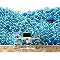 Ansyny カスタム3 D写真の壁紙リビングルーム壁画ソファーテレビの背景青植物花絵画写真絵画壁紙用壁3 D-420X280cm