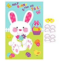 """Egg-stra Special Easter Party Pin-The-Tail On the Bunny Game, Paper, 37""""x 24%・・橸セ鯉セ橸セ呻スク・ォ・ー・・, Pack of 10 [並行輸入品]"""