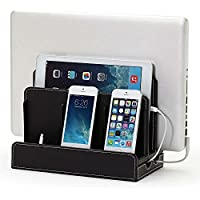 【従来の不満点をとことん解決した充電スタンド】iPhone Android iPod iPad Mac PC などをひとまとめに Multi Charging Station(マルチチャージングステーション)(ブラック)