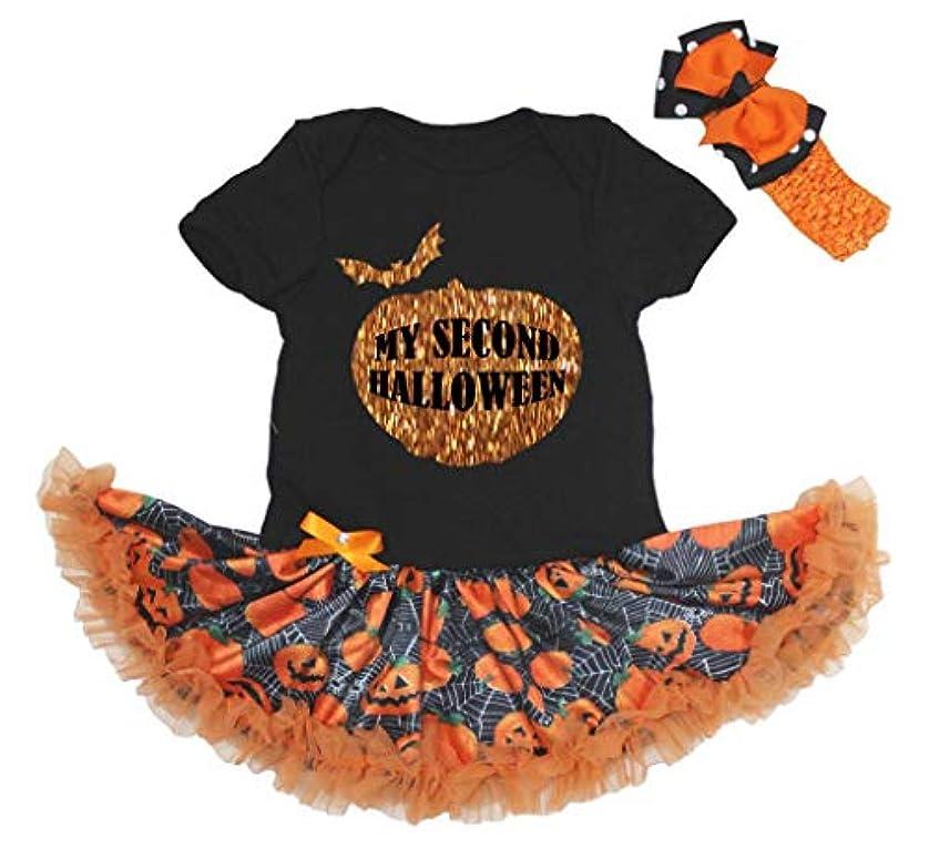主人ダニコピー[キッズコーナー] ハロウィーンのベビー服, ワンピースドレス, My Second Halloween, ブラックロンパース, カボチャチュチュ Nb-18m (X-large) [並行輸入品]