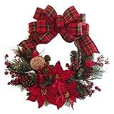 クリスマスリース クリスマス飾り 30CM 飾り 可愛い 冬 壁掛け かわいい クリスマス オーナメント クリスマスツリー装飾 部屋 玄関 飾り 華やか デコレーション オーナメント クリスマス用品