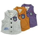 【アウトレット】 Bobson ベスト(80~130cm) キムラタンの子供服 パープル 80 ( 77222x77722-151a )