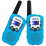 Retevis RT32 Kids Walkie Talkies VOX Scan Call Alarm Monitor 2 Way Radio Handheld Walkie Talkies with LED Flashlight for Birthday Gift Christmas