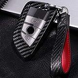 輝渚 BMW車用B 透明シールド カーボン調 フルカバー ストラップ スマートキーケース キーカバー キーケース スープラ 2シリーズ:F45 F46 5シリーズ:G30 G31 6シリーズ:G32 7シリーズ:G11 G12 X1:F48 F49 X2:F39 X3:G01 X5:F15 F85 X6:F16 F86