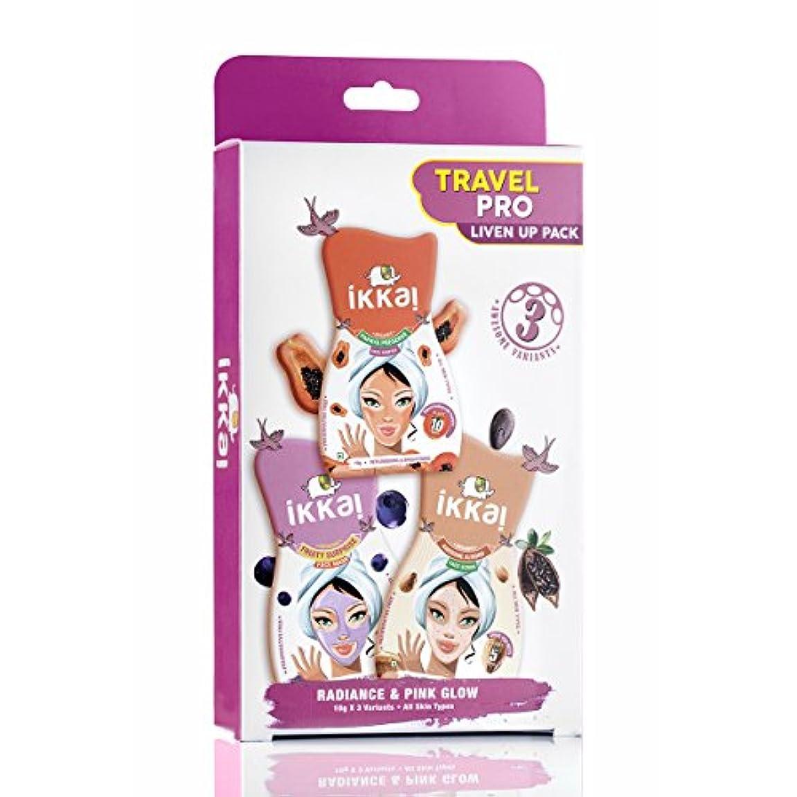 シール南延期するIkkai by Lotus Herbals Travel Pro Liven Up Pack (1 Face Mask, 1 Face Scrub and 1 Face Souffle)