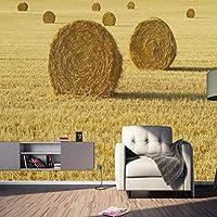 Clamsxgus 現代のカスタマイズされた壁紙自然農場小麦写真壁壁画ウォールペーパー家の装飾-200X140Cm