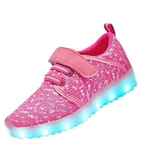 子供 発光シューズ LED発光靴 スニーカー USB充電 スニーカー 光る靴 スポーツシューズ LE...