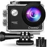 Crosstour アクションカメラ WiFi搭載 1080P高画質 1200万画素 30M防水 2インチ液晶画面 170度広角レンズ 2個1050mAh電池