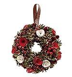 丸和貿易  クリスマス リース ジョイナスローズ  (S)  壁掛け  玄関飾り    4008739-01